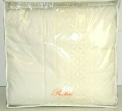 2780 New Pratesi Queen Cut Work Lace Ivory Scalloped Quilt Bedspread Coverlet