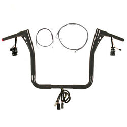 1 1/4 Bblack 15 Z Bar Prewired Kit 2008-2013 Harley Electra Glide Cruise And Abs
