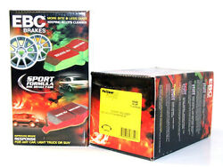 Ebc Yellowstuff Track Brake Pads Front And Rear Set For 03-06 Evo 8 W/brembo