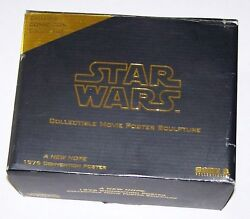 Star Wars A New Hope 10th Anniv Movie Poster Sculpture - New - Never Displayed