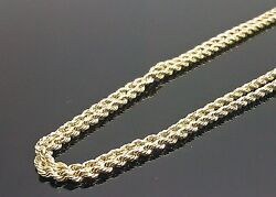 Real 10k Yellow Gold Rope Chain Necklace 26 Inches 2.5mm Lobster Unisexnew N