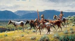 Martin Grelle New Wealth Canvas Giclee S/n Coa New Mint Sold Out 73/125