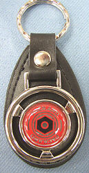 Vintage Red Packard Mini Black Leather Key Ring 1900 1901 1902 1903 1904 1905