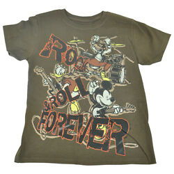 Official Disney Youth Kids Rock And Roll Mickey Boys Band Tshirt Tee  $12.38