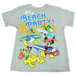 Official Disney Youth Kids Beach Party Boys Crew Vacation Tshirt Tee  $12.38