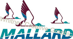 Mallard Rv Logo 3 Duck Graphic Decal Lettering Price Is For 1 47 X 25