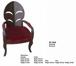 Rosewood 2 Armchair And Table Set