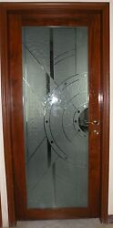 Rosewood And Glass Single Entry Door