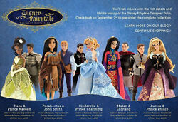 Disney Store COMPLETE Designer Collection Doll SETS wBags LIMITED EDITION 6000 $899.00