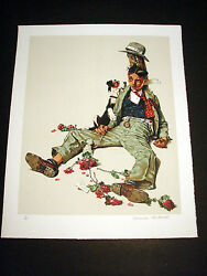 Norman Rockwell Original Lithograph Hand Signed Rejected Suitor 3/200