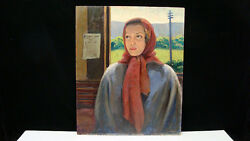 Canadian Henry Leslie Smith 1900-1974 Immigrant Girl Painting