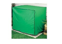 Green Vinyl Condensing Unit Cover Protect The Central Air Conditioning Unit