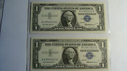 United States - 2 One Dollar - 1957 - Silver Certificates - Paper Money - Mint