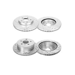 F+r Drill Brakes Rotors For 2010 2011 2012 2013 - 2017 Chevy Equinox