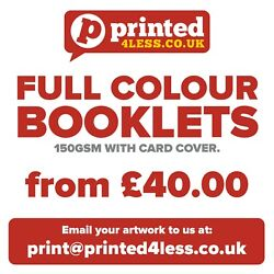 Full Colour Booklets 150gsm With Card Cover Brochures 250gsm Magazine Service