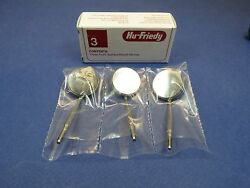Dental Front Surface Mouth Mirror No 05 Mir5/3 Set Includes 3 Mirrors Hu Friedy