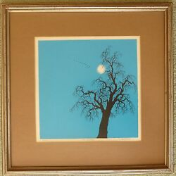 Duane Armstrong Signed Print 46/100 1973 The Centinel 10 Sq. Framed 16 Sq.