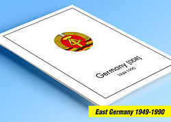 Color Printed East Germany Ddr/gdr 1949-1990 Stamp Album Pages 334 Ill. Pages