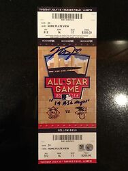 2014 All Star Game Ticket Signed And Inscribed Mike Trout 14 Asg Mvp Mlb Holo