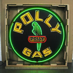 Polly Gas Neon Sign - Gasoline And Motor Oil - Gulf - 36 - Wilshire Oil Company