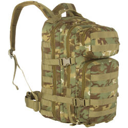Army Tactical Assault Pack Military Rucksack Hiking Molle 20l Arid Woodland Camo