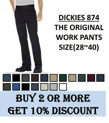 Dickies 874 Original Fit Work Pants Bottom Sizes 28 to 40 $26.99