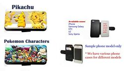 Pikachu Pokemon Anime Collage Faux Leather Phone Case For Iphone