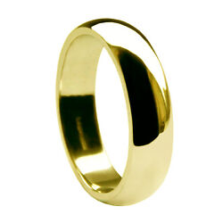 8mm 18ct Yellow Gold D Shape Wedding Rings 750 Uk Hallmarked Profile Bands New