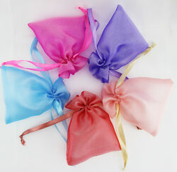 Original Lot Of 50 100 Organza Wedding Favor Packing Gift Bags Jewelry Pouches