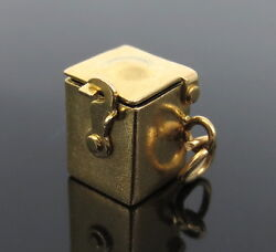 Vintage Jack in the Box 14K Yellow Gold Charm Pendant