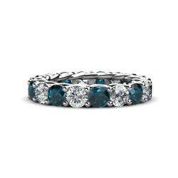 Topaz and Diamond Womens Eternity Ring Stackable 4.5 ctw* 14K Gold JP:60459