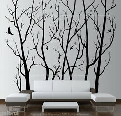 Large Wall Art Decor Vinyl Tree Forest Decal Sticker choose size and color