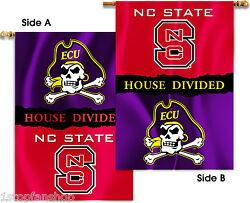 ECU Pirates North Carolina State Wolfpack 28 x 40 Two-Sided House Divided Banner