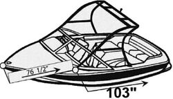 7oz BOAT COVER MB SPORTS B52 V23 TEAM EDITION W/ TOWER 2007-2009