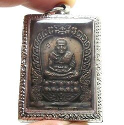 Lp Tuad Thuad Thai Strong Protection Real Buddha Amulet Lucky Pendant Very Rare