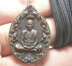 Lp Koon As You Wish Coin Multiply Money Rich Thai Amulet Buddha Pendant Necklace