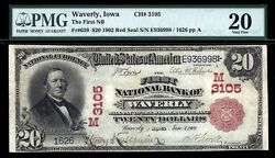 20 1902 Red Seal The First National Bank Of Waverly Iowa Ch 3105 Fr 639