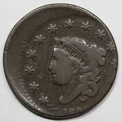 1830 N-4 R-2 Off Center Matron Or Coronet Head Large Cent Coin 1c