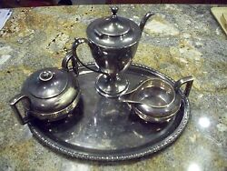 4 Vintage Silverplated Gorham Coffee Set And Others Good Conditio Cheap No Reserve