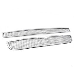 2004-2012 Chevy Colorado Main Chrome Stainless Upper Mesh Grille Grill Insert