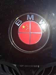 China Chinese Asia Flag Bmw Emblem Overlays Stickers - Fits Every Bmw Model