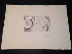 Picasso Suite Vollard Bloch 207 Limited Edition Picasso Family Authorized.