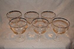Lenox Crystal Champagne Sherbet Dishes Set Of 6 Beautiful Glasses Only 12.50 Ea