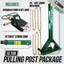 Jackco Pulling Power Post Package 68 Tall With Pump 6ft Hose And 10 Ton Ram