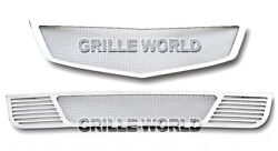 Ss 1.8mm Mesh Grille Combo For 2009-2010 Acura Tsx