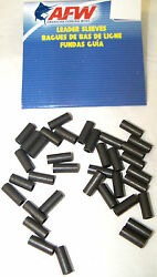 AFW BLACK LEADER SLEEVES FOR RIGGING STEEL LEADER PICK YOUR SIZE SMALL PACKS