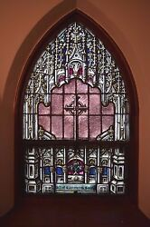 + Beautiful 95 Year Old Stained Glass Window + C.1918 + 2ns + + Chalice Co.