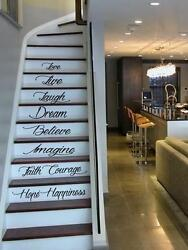 Live Hope Laugh Stairs Wall Quote Decal Sticker Decal Vinyl Art Home Decor