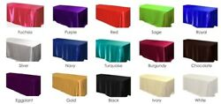 12 Pack 90x156 Rectangular Satin Tablecloth Wedding Party Catering