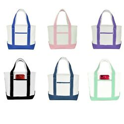 DALIX 12quot; Small Cute Cotton Canvas Gift Tote Wedding Bag Pink Purple Red Blue $9.99
